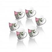 Rose Collection Set of 6 Mugs