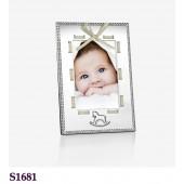 Baby Frame White Ribbon 4x6